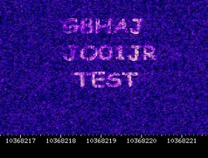 as received at the SUWS webSDR Farnham on 3cm